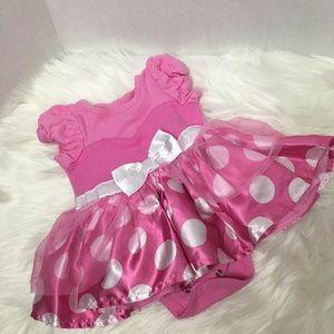 Disney Baby pink Minnie Mouse bodysuit 6-9 M